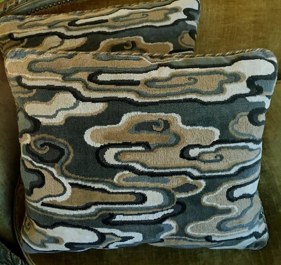 Le Jardin Chinois Brunschwig: Brunschwig & Fils Linen Cut Velvet Fabric Custom By Fortuny1