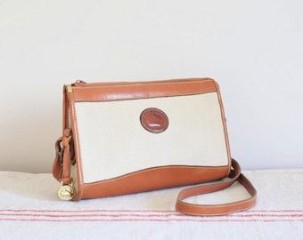 Vintage Dooney & Bourke All Weather Leather shoulder bag messenger bag USA
