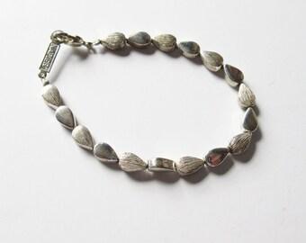 Napier Silver Tone Bracelet Vintage Napier Bracelet with Silver Tone Beads