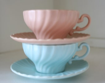 Vintage Franciscan Ware Tea Cups 1936-1954