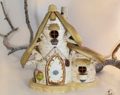 Willodel Birch  Fairy Cottage with Table, Chairs & Fireplace