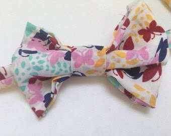 handmade Bow tie for your little guy in butterflies with velcro closure