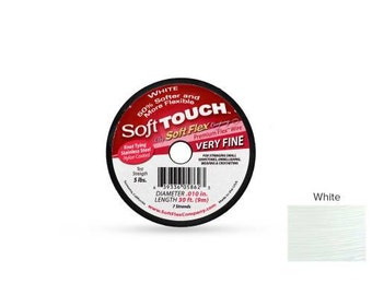 Soft Touch Wire 7 Strand 0.010 Inch 30ft length White Color - 1spool (4655)/1