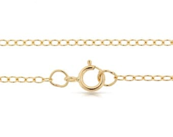 Finished Chains with spring ring clasp Gold Filled 2x1.6mm 20 Inch Cable Chain - 5pcs  Bulk Quantity (2795)/5