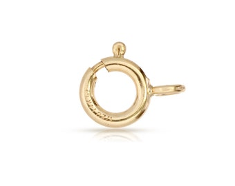 14Kt Gold Filled 6mm Spring Ring With Fixed closed Ring - 20pcs (3063) Wholesale Price High Quality