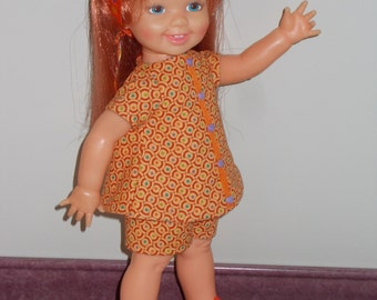 "OOAK doll clothes for Crissy Family Cinnamon - ""Circles"""