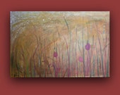 Tulip Fields ~ Original Painting ~ Acrylic Painting on Canvas, Contemporary Art, Large Wall Art, Large Abstract Painting