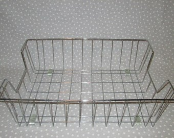 ONE Vintage Industrial Wire Basket Office Paper Storage Inbox Legal Size Paper