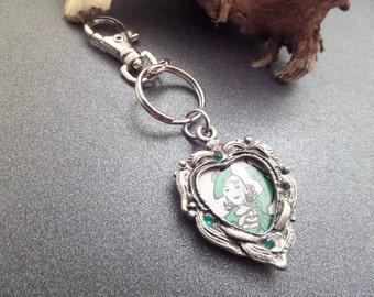 Scottish Highland Dancer Keychain or Bag Charm with Scottish Woman