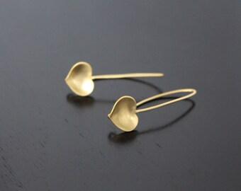 Matte Gold  Plated Ear Wire linear Hooks fishhooks Earring Findings, 2 PC, U611935