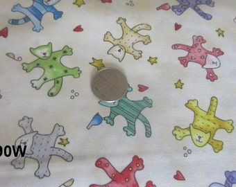 """Quilting Fabric  """"Happy Catz"""" by Red Rooster Fabric"""