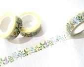 Colorful Leaves Washi Tape - Leaves Washi Tape - Pastel Leaf Washi Tape - Japanese Masking Tape - 10 mt