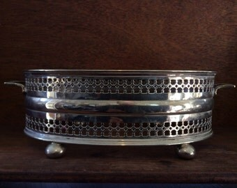 Vintage English EPNS serving presentation bowl ring circa 1940-50's / English Shop