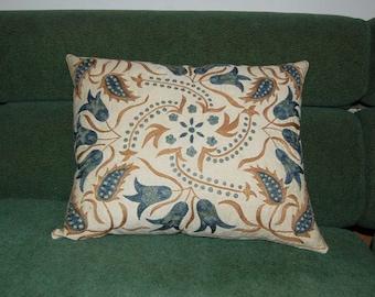 Beautiful  handmade     Bukhara  flowers pattern Suzani Pillow Cover cushion  original silk  19.5 x 16 inch