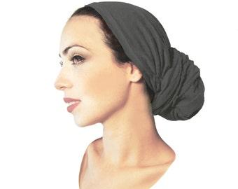 Gray Head Scarf Tichel Boho Chic Summer Exercise Hair Snood Chemo Hat Chemo Cap Turban Versatile Long Wrap Black White Grey Lavender