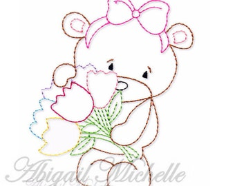 Easter Bears Colorwork Set - 3 Sizes, Machine Embroidery