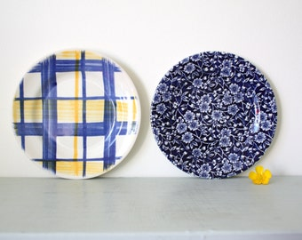 CLOSING DOWN SALE - 50% Off Vintage Pair of Mismatched Side Plates - Tams and Churchill of England