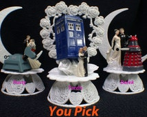 Doctor Who Wedding Cake Topper PICK Genesis Daley, Tardis or Rusty K-9  OR Glasses Knife LOT