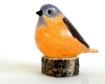 clay bird orange