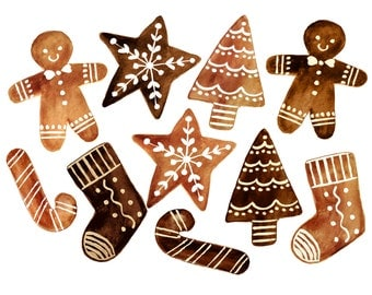 Christmas clipart, christmas cookies clipart, cookies clipart, baking clipart, bakery clipart