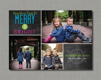 Merry and Bright | Christmas/Holiday Photo Card