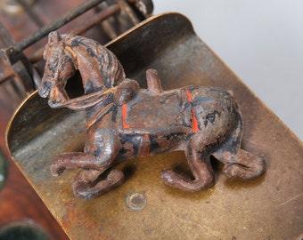 Vintage lead toy, horse figurine, original patina