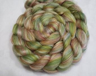 Merino/Tussah Silk Roving 70/30 - 4 oz - Ashland Bay Green - 21.5 Micron