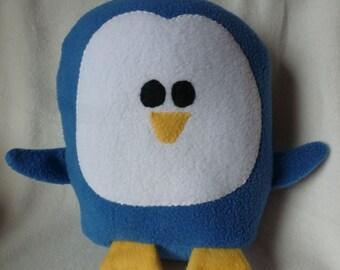 Plush  Blue Penguin Pillow Pal, Baby Safe, Machine Washable