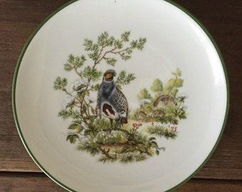 Set of 4 Vintage JKW Dessert Plates Hand Painted Birds Western Germany