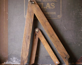 Vintage French Architectural Tools - Angle Making Tools - Great Guy Gift