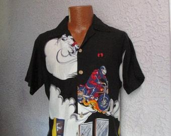 70's/80's  Vintage Men's Hang Ten Rayon Hawaiian Shirt med.
