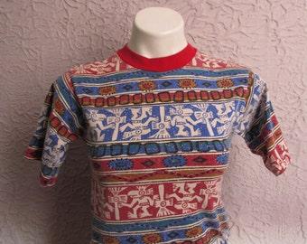80s Vintage Tribal Surfer Wild Boys T Shirt small unisex