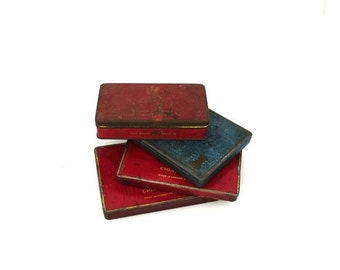 ON SALE Vintage collection of mid century cigarette tins, Craven A Benson & Hedges, Capstan