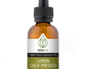 Lemon Cold Pressed Essential Oil  -  100% Pure, Undiluted, Therapeutic Grade