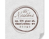Personalized Address Stamp - Custom Address Stamp - Hand Drawn - Original Design - Housewarming - DIY Printing - Weddings - Personal Gifts