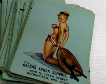 Vintage Deck Pin Up Cutie Playing Cards 1960s Advertising Galena Brookfield Wi