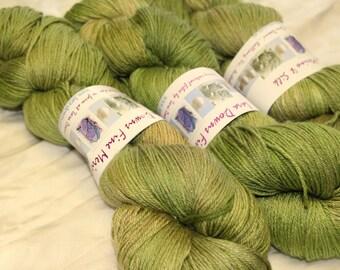 Merino Silk 4 ply yarn - hand dyed
