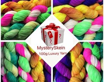 Sock Yarn Surprise Skein, Merino,Hand Dyed Sock Yarn, Hand Dyed, Merino, Cashmere