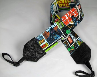 Star Wars Comic Style Camera Strap, Darth Vader, Storm Trooper, the Force, photography