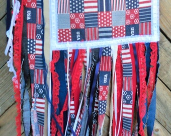 American Flag/American Flag Banner/Flag Wall Hanging/Shabby Chic Flag/Patriotic Decor/July 4/Patriotic Holiday Flag/USA