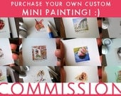 Commission MINI Watercolor Painting