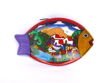 Vintage MEXICAN FISH Wall PLATE