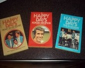 Set of 3 Happy Days Books from the TV Series Happy Days by Garry Marshall - 1974 & 1975