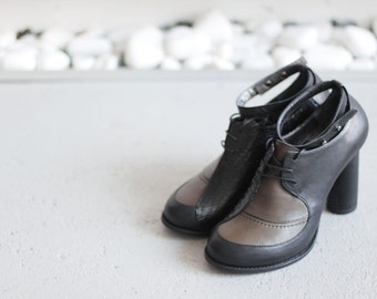 CLARA - Olive&Black - FREE SHIPPING Handmade Leather Shoes with winter sale price