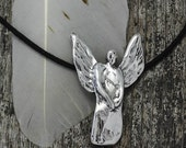 Spring Sale 10% Angel Pendant in sterling silver - lost wax
