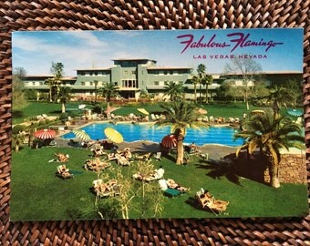 The Fabulous Flamingo Hotel Pool and Grounds Las Vegas NV