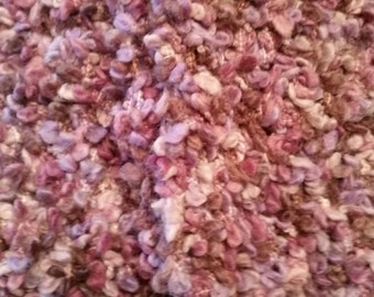 Crocheted textured scarf