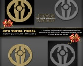 Sith Empire Symbol, Star Wars The Force Awakens Movie, Logo, poster, printable, greeting card, stationery, tags, birthday, party invitation
