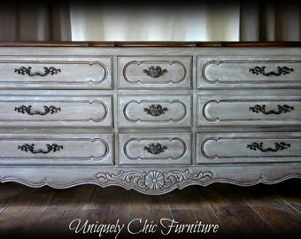 French Country Triple Dresser French Provincial Vintage Thomasville