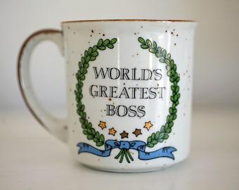 World's Greatest Boss Mug - Ceramic Coffee Mug - Boss's Day - Girl Boss